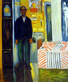 Munch - Self Portrait: Between Clock and Bed