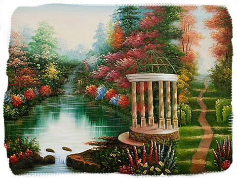 Thomas Kinkade masterpiece, Garden of Prayer