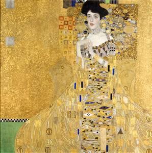 A dazzling gold-flecked 1907 portrait by Gustav Klimt