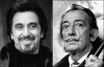 Al Pacino and Salvador Dali