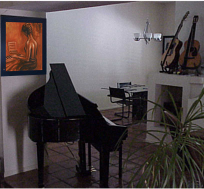 Decorating with Oil Paintings and Musical Instruments