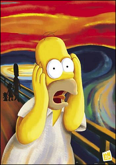Edvard Munch - The Scream  oil painting - Simpsons Halloween Special